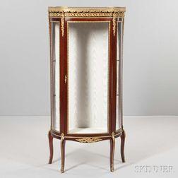 Louis XV-style Marble-top Bronze-mounted Mahogany Vitrine