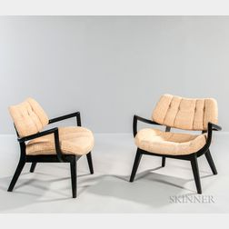 Pair of Paul Laszlo for Brown Saltman Armchairs