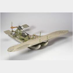 Model of a Combination Airplane/Pontoon Boat