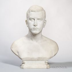 Wilhelm Wandschneider (German, 1866-1942)       Marble Bust of Max Muller