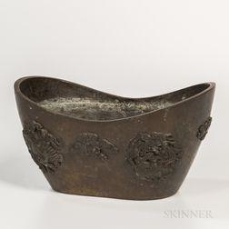 Bronze Sycee  -shaped Censer