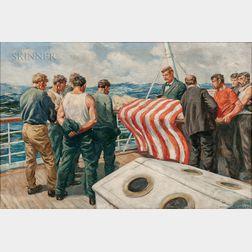 Anton Otto Fischer (American, 1882-1962)      Burial at Sea