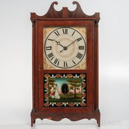 Norris North Pillar and Scroll Shelf Clock