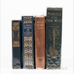 Four Books with Decorative Bindings