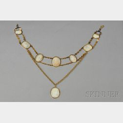 Directoire Shell Cameo Necklace
