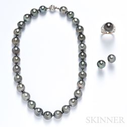 Suite of Tahitian Pearl Jewelry