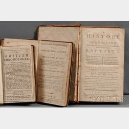Backus, Isaac (1724-1806)   A History of New England with particular reference to Baptists
