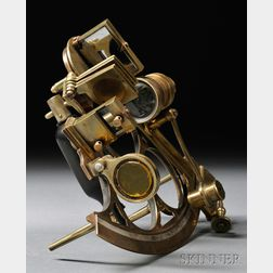Henry Hughes & Son 7-inch Brass Sextant