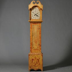Paint-decorated Pine Tall Clock