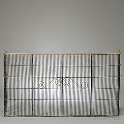 Folding Iron Wire Fire Screen