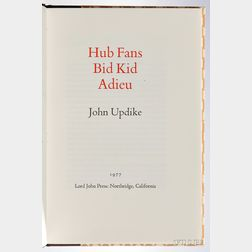 Updike, John (1932-2009) Hub Fans Bid Kid Adieu,   Signed by John Updike and Ted Williams.