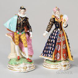 Pair of Samson Porcelain Figures