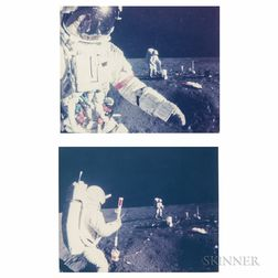 Taken by an Automatic 16mm Camera Mounted on the Apollo Lunar Hand Tool Carrier Aboard the Modularized Equipment Transporter (MET)