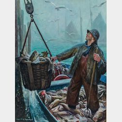 Gerrit Albertus Beneker (American, 1882-1934)      Provincetown Daily Catch