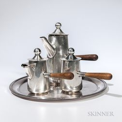 Three-piece Mexican Sterling Silver Coffee Service