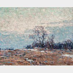 John Folinsbee (American, 1892-1972)      Untitled, Winter Thaw