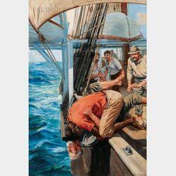 Anton Otto Fischer (American, 1882-1962)      Fisticuffs on Deck