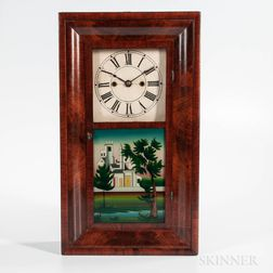 Henry Terry Miniature Mahogany Ogee Shelf Clock
