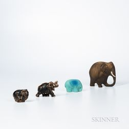 Four Ceramic Elephants