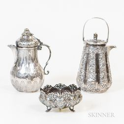 Three Pieces of Southeast Asian Silver Tableware