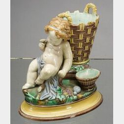Wedgwood Majolica Figural Vase