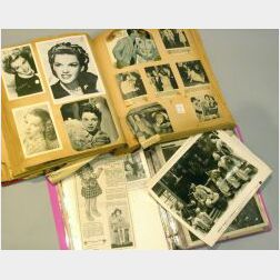 Two Scrapbooks of Shirley Temple and Judy Garland Items