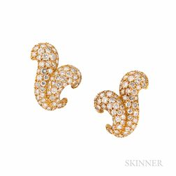 H. Stern 18kt Gold and Diamond Earrings