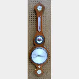English Mahogany Wheel Barometer