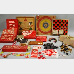 "Group of Coca-Cola ""Games for Young America"" and Other Coca-Cola Games and Toys"