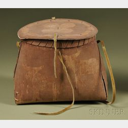 Pictorial Birch Bark Container