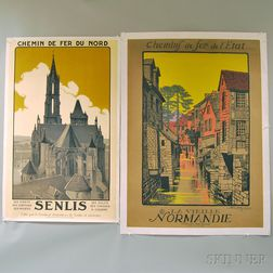 Two French Lithograph Travel Posters
