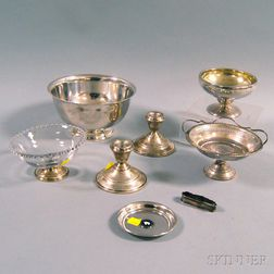 Small Group of Sterling Silver Tableware