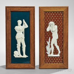 Two Wedgwood Victoria Ware Plaques