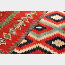 Two Navajo Germantown Weavings