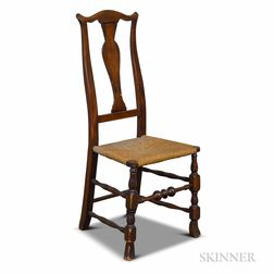 Queen Anne-style Maple Side Chair