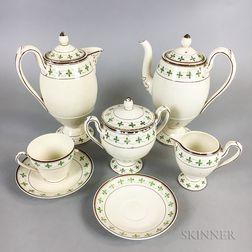 Seven-piece Wedgwood Creamware Tea/Coffee Service.     Estimate $250-350