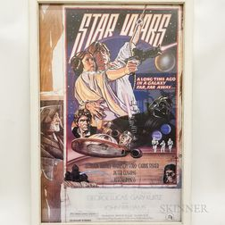 Framed Reproduction Star Wars   Movie Poster