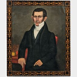 Erastus Salisbury Field (Massachusetts/New York, c. 1805-1900)      Portrait of Deacon Harlow Pease