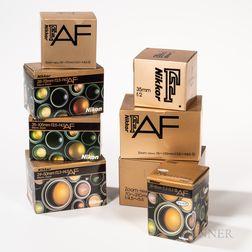 Eight New-in-box Nikon Lenses