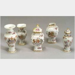 Five Small Samson Porcelain Vases