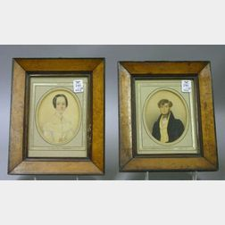Framed Pair of 19th Century Portrait Miniatures