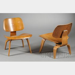 Pair of Charles Eames LCW Lounge Chairs