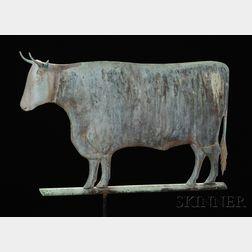 Molded Copper Steer Weathervane