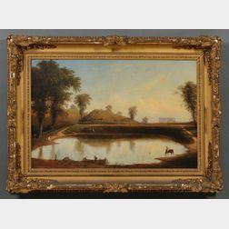 American School, 19th Century      Frog Pond, Old Hill Burying Ground, Newburyport, Massachusetts.