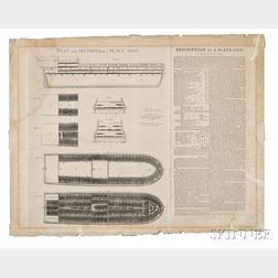 Plan and Sections of a Slave Ship.