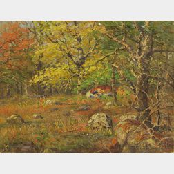 Theodore Victor Carl Valenkamph (American, 1868-1924)      Autumn Landscape.