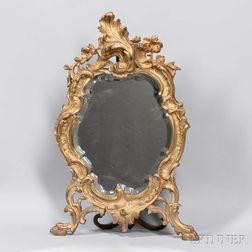 Rococo-style Gilt-bronze Table Mirror