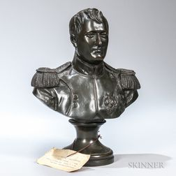 After Antonius Canova (Italian, 1757-1822)       Bronze Bust of Napoleon