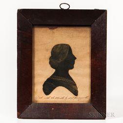 Martha Ann Honeywell (American, c. 1787-after 1848)      Silhouette Portrait of a Woman