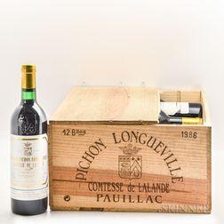 Chateau Pichon Lalande 1986, 10 bottles